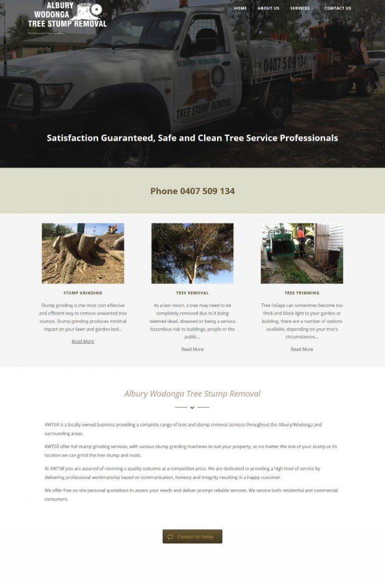 Albury Wodonga Tree Stump Removal