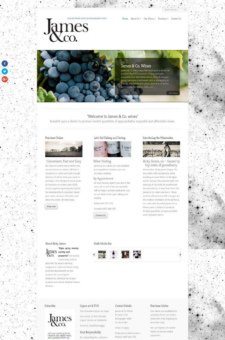 James and Co Wines - Rutherglen