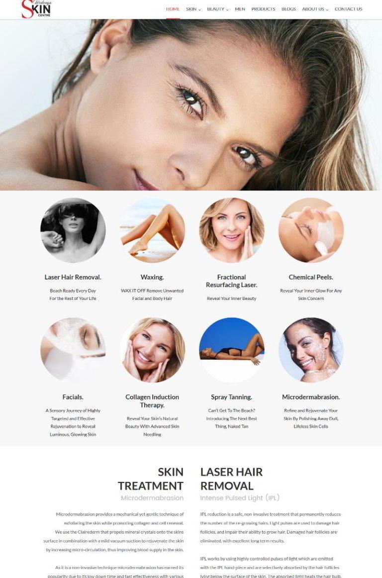 Wodonga Skin Centre Web Design